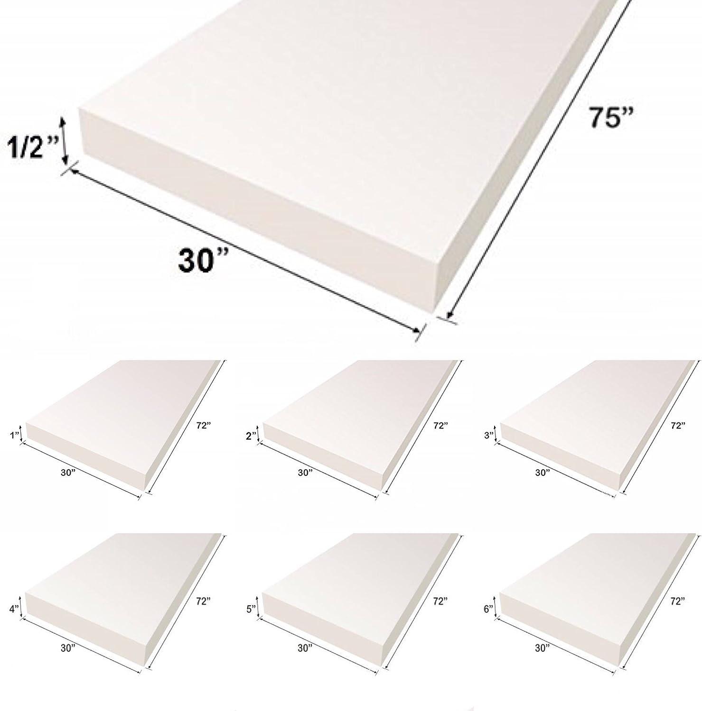 "Upholstery Foam Cushion Sheet 30/""x75/""   Medium Density Support Premium Quality"