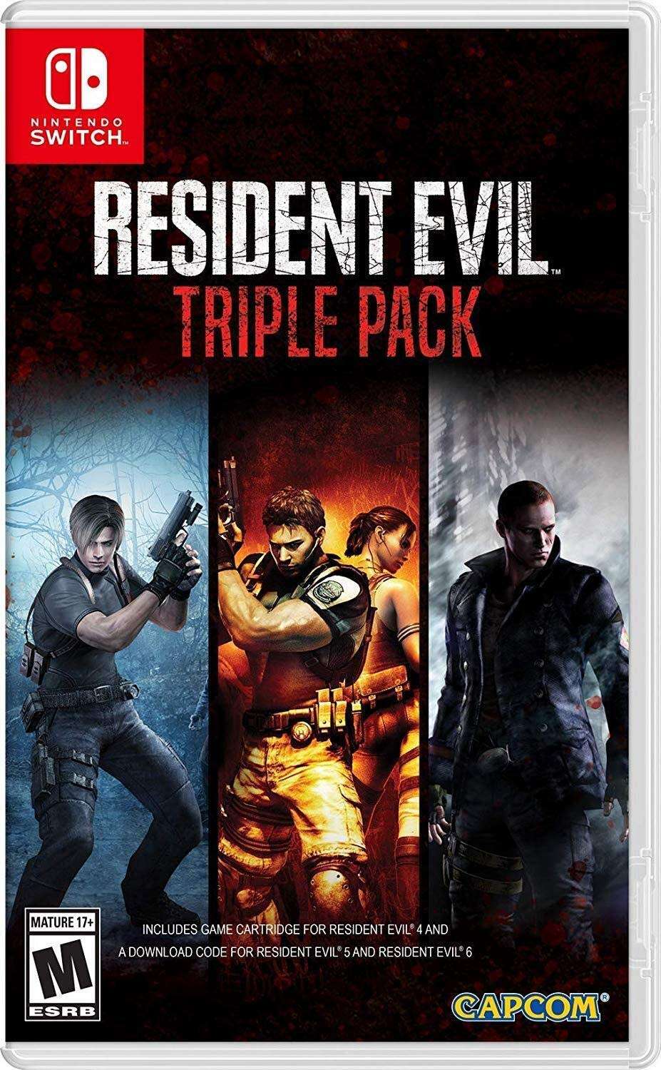 Amazon Com Resident Evil Triple Pack Nintendo Switch Capcom U S A Inc Video Games