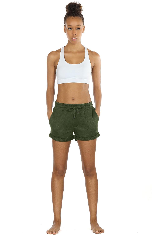 e1e67d6e3730d4 icyzone Sweatshorts Kurze Sporthose Damen - Gym Hot Pants Jogger Yoga Kurz  Hose Sport Shorts  Amazon.de  Bekleidung
