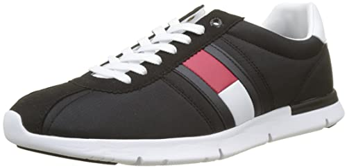 Mens Retro Lightweight Low-Top Sneakers, Blue Tommy Hilfiger
