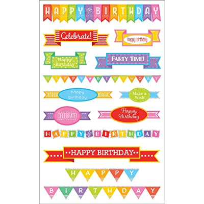 Mrs Grossman's Sticker, Birthday Banners: Arts, Crafts & Sewing