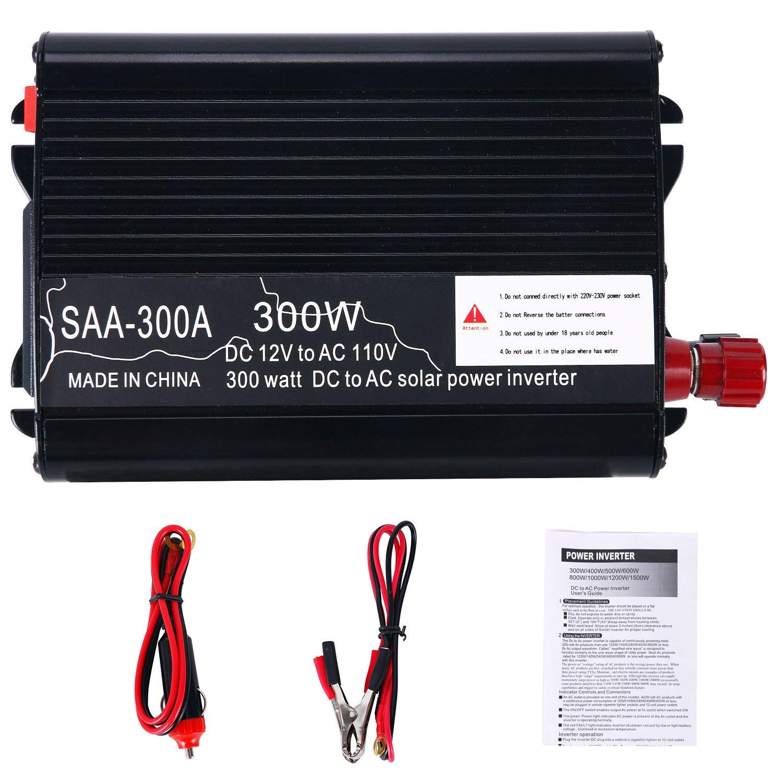 YaeCCC Solar Power Inverter 12V DC To 110V AC Modified Sine Wave Converter