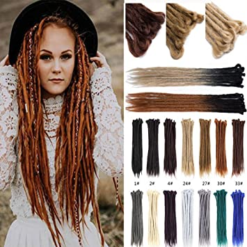 d2e538c5488187 US Fashion Outlet Handmade Dreadlocks Extensions 20 inch 10 Strands Reggae  Hair Hip-Hop Style