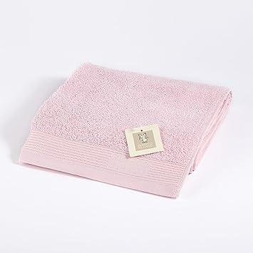 Burrito Blanco Toalla de Mano/Toalla de Lavabo Lisa de Rizo Suave Algodón 100% de 50x100 cm, Color Rosa: Amazon.es: Hogar