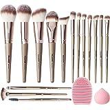 Brochas de Maquillaje Profesional Kit 15 Piezas Set de Brochas para Maquillaje Sintéticas de Alta Calidad Rubor Brochas Maqui