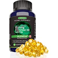 Aleneve Alvizia's Cold Pressed Evening Primrose Oil 1000mg -Women's Health(60 Softgel Capsules)