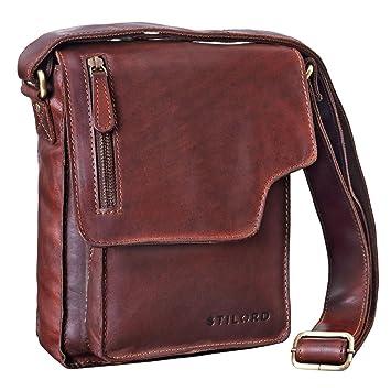 f06ba6f1c1533 STILORD  Pete  Umhängetasche Leder klein Männer Schultertasche Vintage  Messenger Bag Herren 8