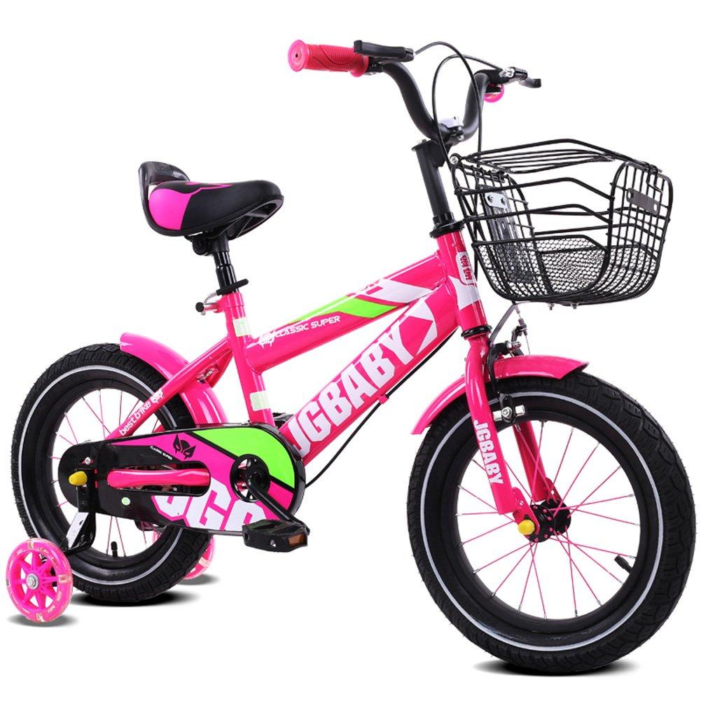 交換無料! CHS@ 子供の自転車2-7歳のベビーキャリーボーイフラッシュトレーニングホイールと12/14/16インチマウンテンバイク 子ども用自転車 ローズレッド, (色 : 12\ ローズレッド, さいず サイズ さいず : 12