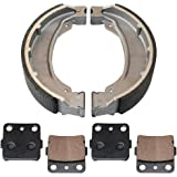 Caltric FRONT BRAKE PADS & REAR BRAKE SHOES Fits HONDA TRX250EX TRX-250EX SPORTRAX 250 250EX 2001-2008 NEW