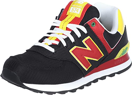 new arrival 12016 7a1cb New Balance ML 574 PBK Black Red 45.5: Amazon.co.uk: Shoes ...