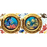 RoomMates Giant Children's Repositonable Disney Wall Stickers Finding Nemo, Multi-Color