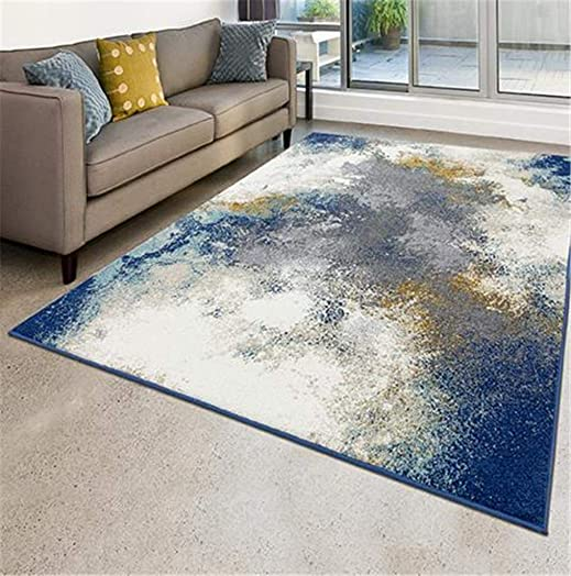 Luxe Weavers Abstract Blue 8×10 Area Rug - the best living room rug for the money