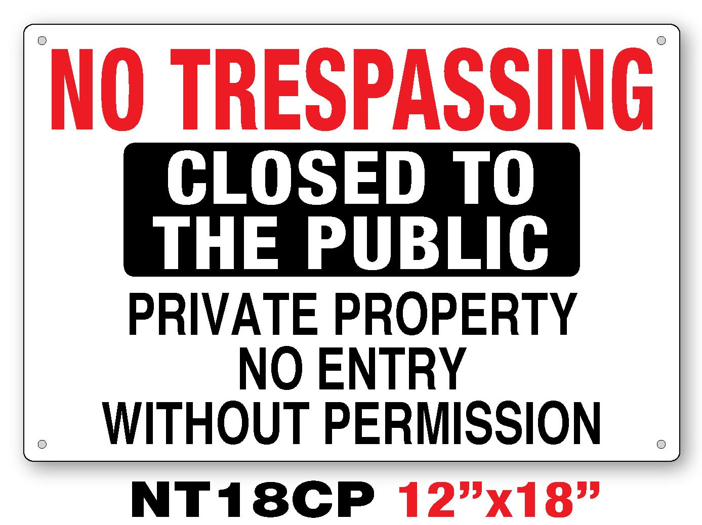Amazon.com: No Trespassing cartel: Office Products