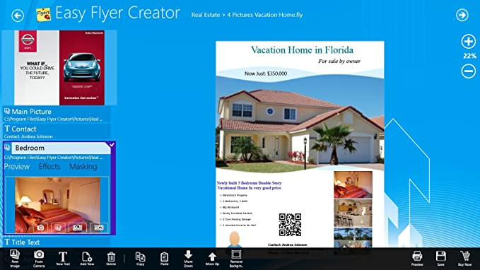amazon com easy flyer creator 2 0 design flyers business flyer