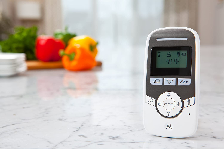 /Wei/ß /MBP161/ Motorola Babyphone Audio mit Display 1.5 Zoll/und Babypflege-Timer/