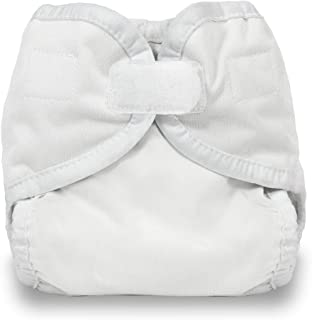 product image for Thirsties Diaper Cover with Hook and Loop, White, X-Small (Discontinued by Manufacturer)