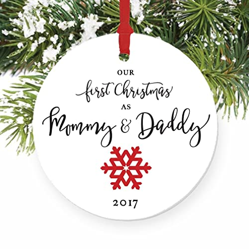 Amazon.com: Our First Christmas as Mommy & Daddy 2017, New Parents ...