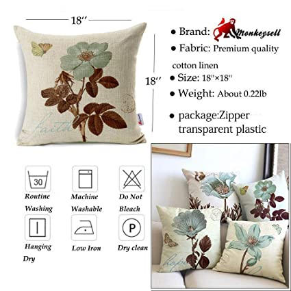 Amazon Monkeysell Lotus Leaf Butterfly Flowers Pattern Cotton Adorable Clear Plastic Throw Pillow Covers