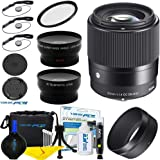 Sigma 30mm f/1.4 DC DN Contemporary Lens for Sony E-Mount Cameras + Expo-Fiber Microfiber Cleaning Cloth
