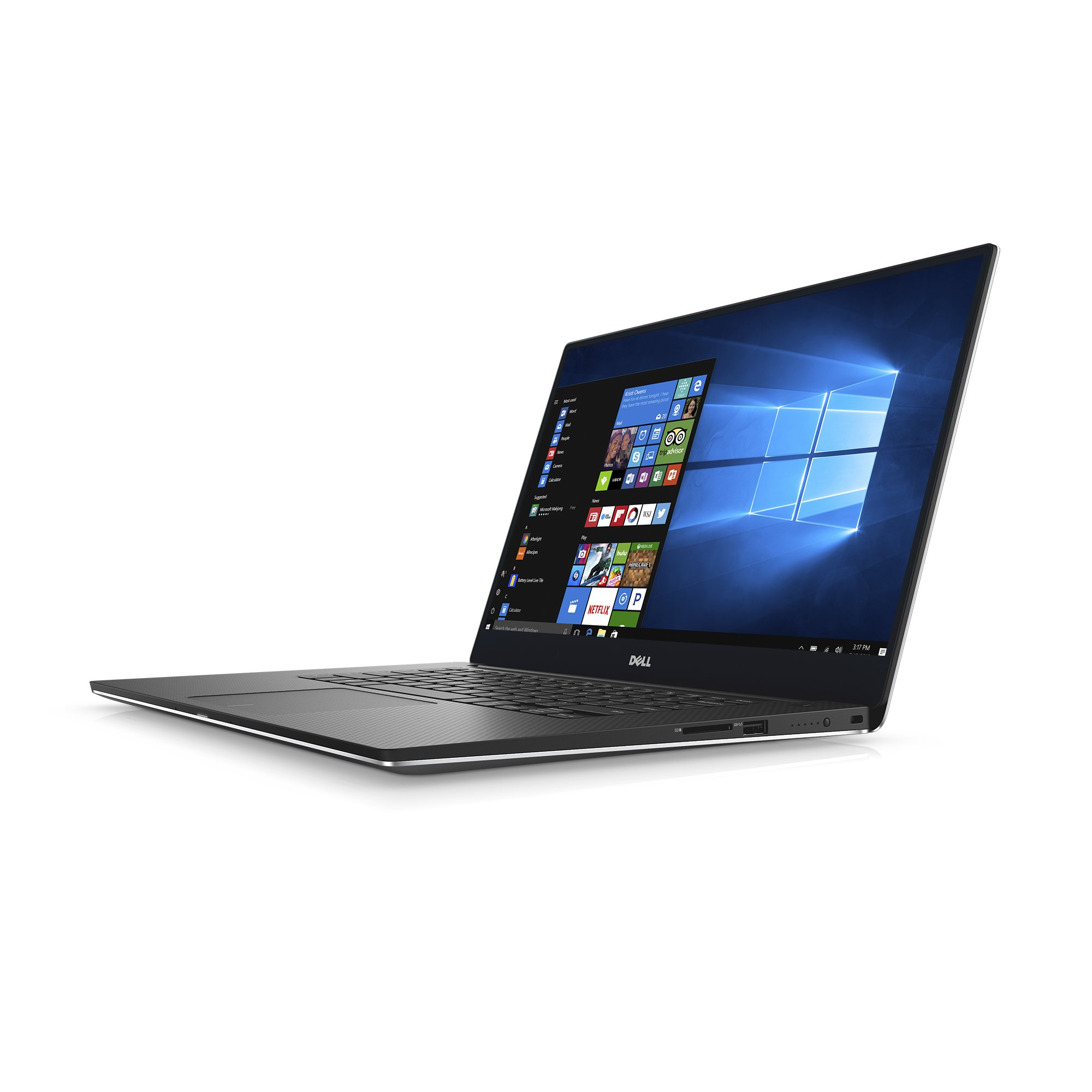Dell XPS9560-7001SLV-PUS 15.6'' Ultra Thin and Light Laptop with 4K touch screen display, 7th Gen Core i7 (up to 3.8 GHz), 16GB, 512GB SSD, Nvidia Gaming GPU GTX 1050, Aluminum Chassis