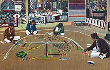 Amazon Com Navajo Yebashi Ceremony Whirling Log Sand Painting