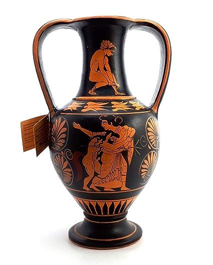 Amazon Maenad Satyr Attic Red Figure Amphora Ancient Greek