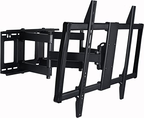 VideoSecu Articulating TV Mount Large Big Heavy Duty Swivel Tilt Wall Mount Bracket for Most 60 62 65 70 75 78 80 , Some Models up to 85 90 LED LCD Plasma TV- Dual Arm pulls Out up to 25 1YE