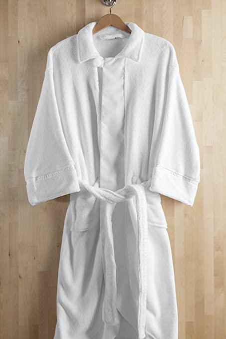 Image Unavailable. Image not available for. Color  Luxuriously Soft  Microfiber Resort   Spa Terry Robe ... 919f244fd