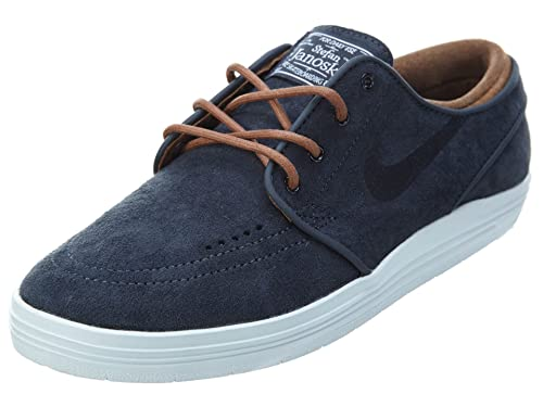 5ddbc4bcfa39 Nike Lunar Stefan Janoski Mens Black Suede Lace Up Lace Up Sneakers Shoes  7  Buy Online at Low Prices in India - Amazon.in