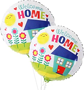 Welcome Home Round Shaped Balloons - Large, 18 Inch, Pack of 2 | Welcome Them Home Party Supplies | Housewarming Party Decorations Kit | Family Decorations for Home | Welcome Home Party Supplies