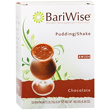 Bariwise High Protein Shake Low Carb Diet Pudding Shake Mix Chocolate 7 Servings Box