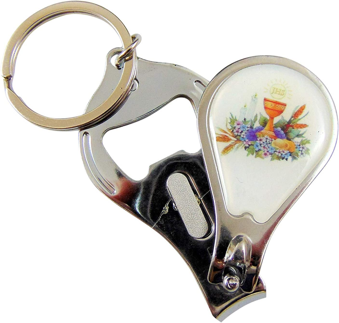 Westman Works First Holy Communion Favor Key Chain with Clipper and Bottle Opener Multi Purpose Tool Bulk Lot, Set of 12 [並行輸入品]
