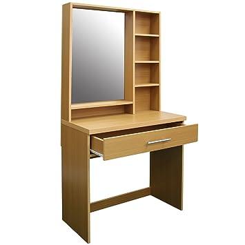 Schlafzimmer Kommode mit Spiegel und Schublade Buche: Amazon.de ...