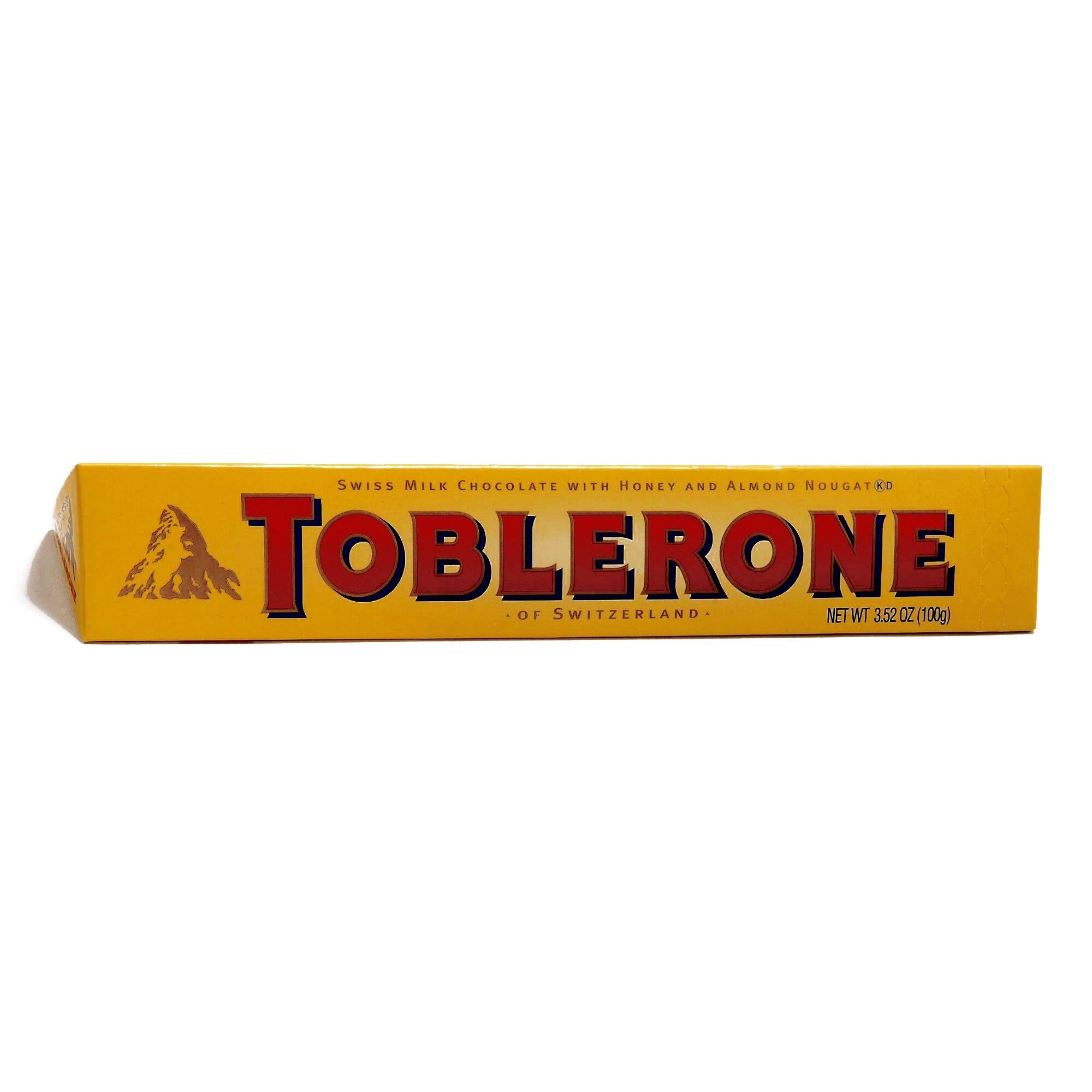 Toblerone Milk Chocolate Bar 3.52 oz each (2 Items Per Order)