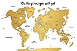 Watercolor World Scratch Off Map   US States and
