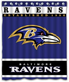 Sonaby Custom Baltimore Ravens Waterproof Fabric Shower Curtain For Bathroom Decoration 60x72 Inches