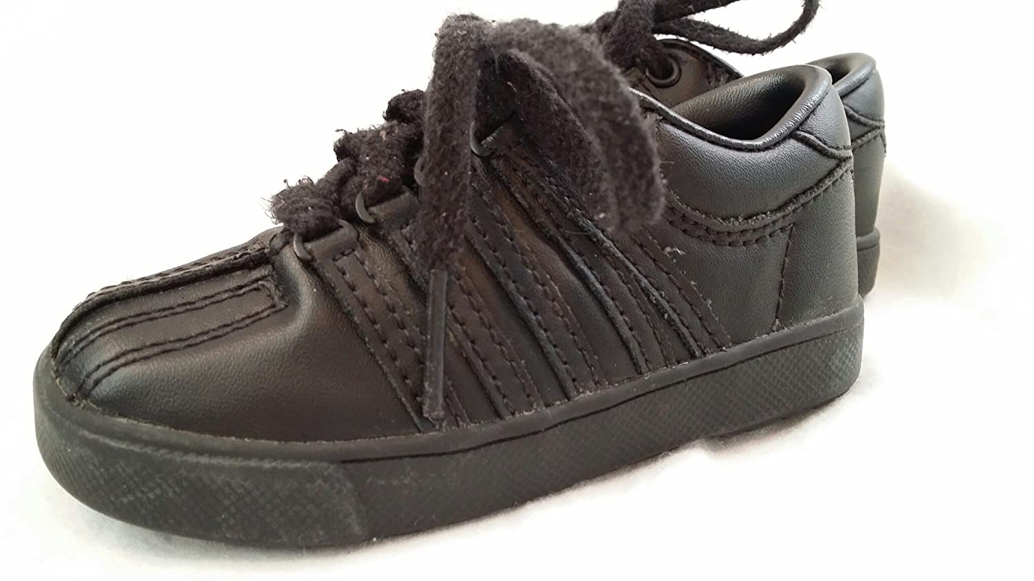 Amazon.com   Famous Maker Infant Toddler Lace-up Black Casual Athletic Shoes  Size 5   Everything Else 64873aaf9