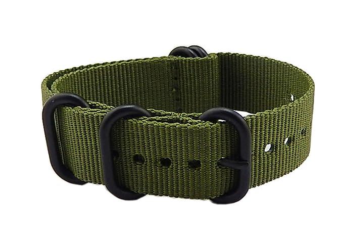 16mm ejército verde de gama alta de estilo NATO balística de nylon correa  banda banda de reemplazo para las mujeres trenzado  Amazon.es  Relojes a01036c62f9a