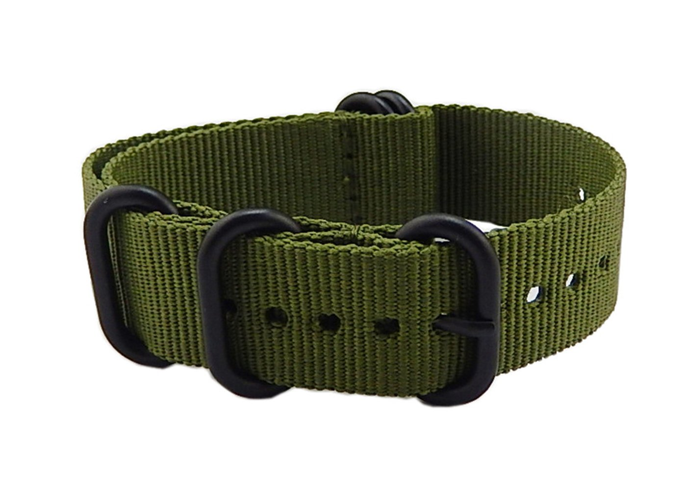 16mm Army Green High-end Nato style Ballistic Nylon Watch Band Strap Replacement for Women Braided