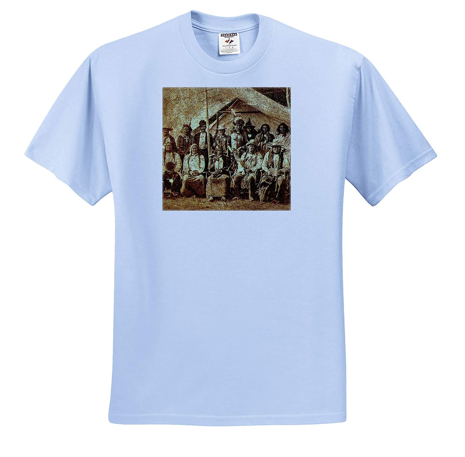 T-Shirts 3dRose Scenes from The Past Stereoview Late 1800s Native American Indians Sioux Tribal Members