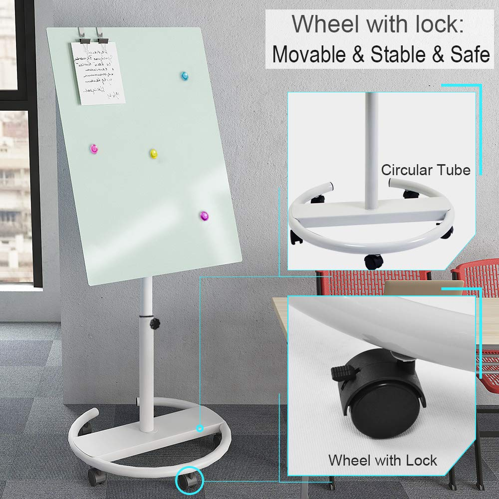 36 x 24 inches Portable Magnetic Dry Erase Board Stand Easel White Board Dry Erase Easel Standing Board w//Flipchart Hooks Mobile Whiteboard