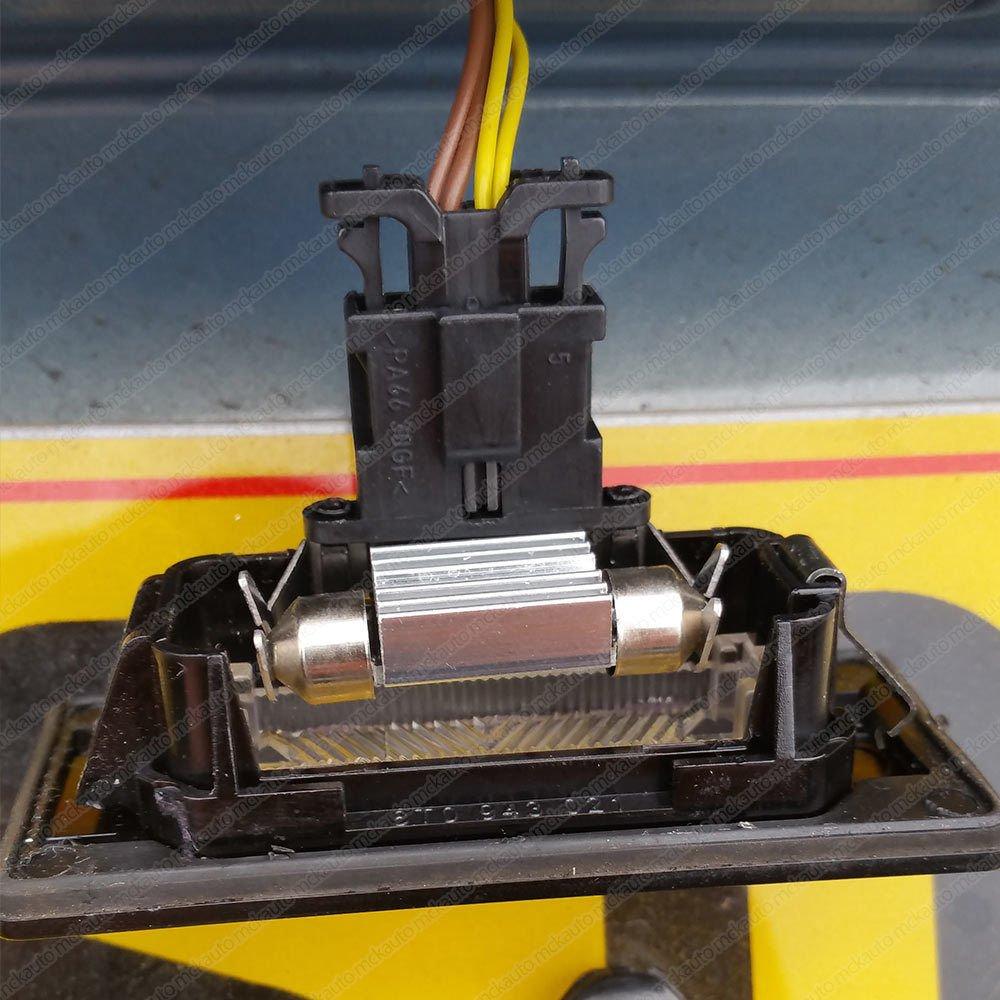 Bombillas LED 2835 Festoon EA7R2 para matrícula, 36 mm, control CANbus, luz blanca xenón: Amazon.es: Coche y moto