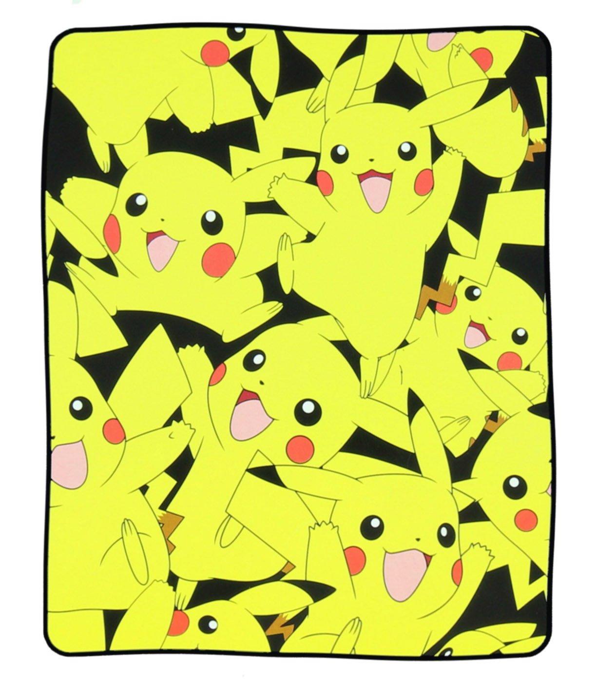 bioWorld Pokémon Pikachu All Over Print Fleece Throw Blanket, 48'' x 60''