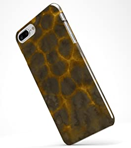 Dark Gray and Golden Honeycomb - Durable Protective Hard Case / Fits the Apple iPhone 8 Plus or iPhone 7 Plus