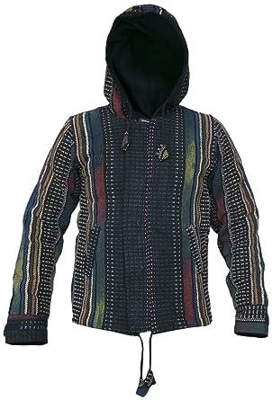 Large Fleece lined heavy cotton hoodie - made in Nepal x7TW1N8SR