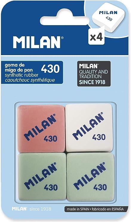 Milan BMM9215 - Pack de 4 gomas de borrar: Amazon.es: Oficina y ...