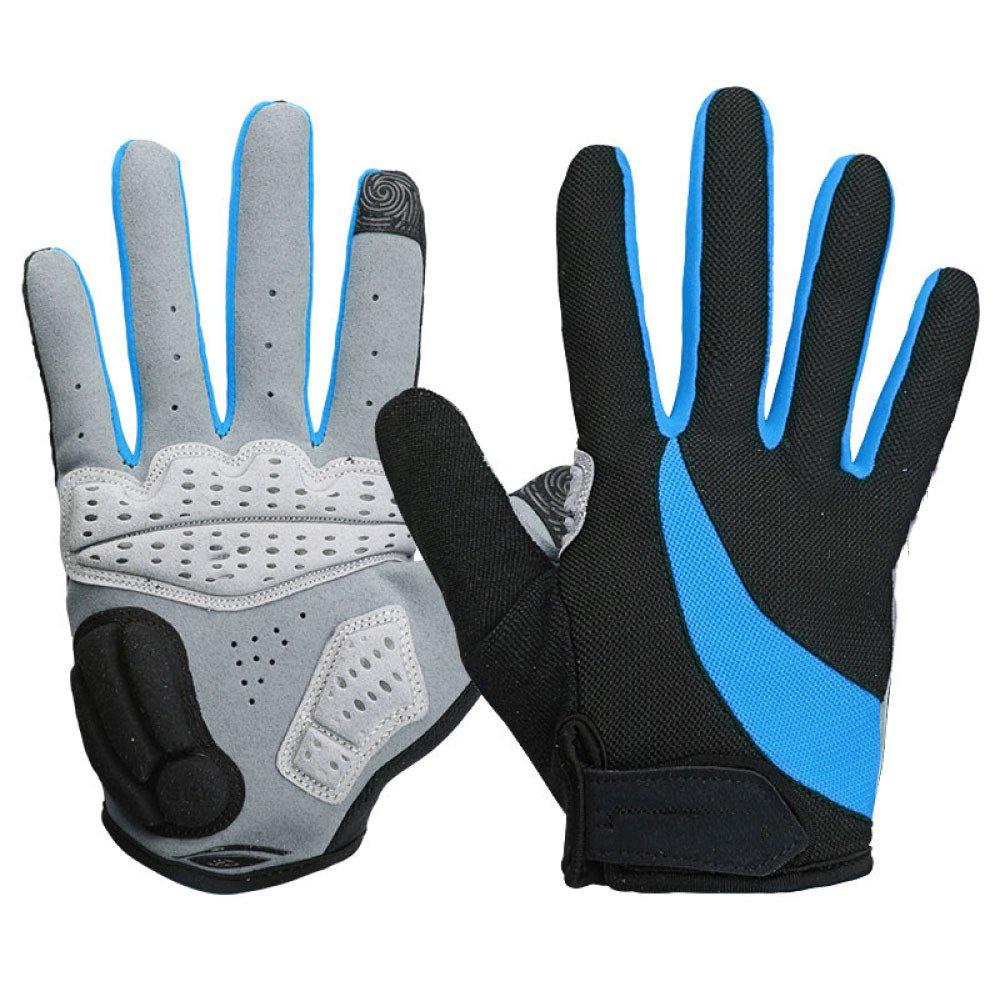 LDFN Touchscreen Handschuhe Silikon Atmungsaktiv Für Laufen Fahren Skifahren Skating Klettern Training,Blau-S