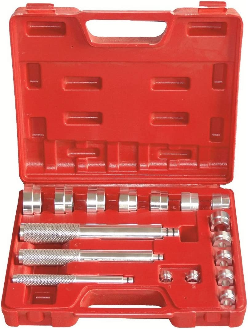 LARS360 17tlg. Rueda de Juego de herramientas de cojinetes de rueda Herramienta de Extractor de rueda Extractor montaje para tirar de rodamientos de bolas.