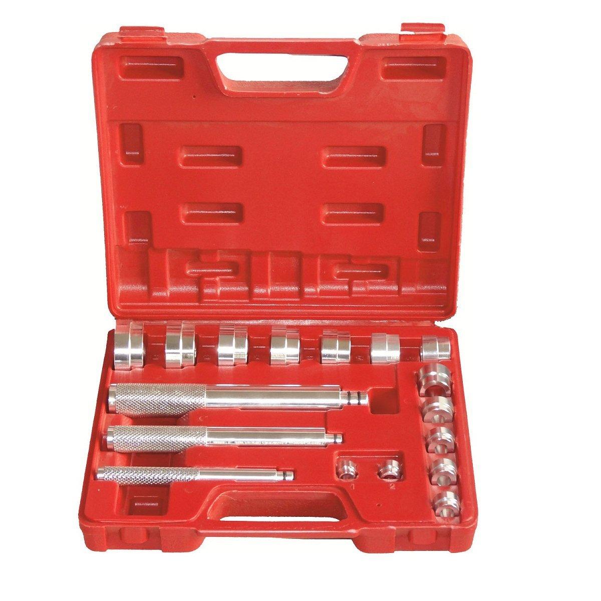 LARS360 17 pezzi - Set di attrezzi per cuscinetti ruota estrattore cuscinetti ruota estrattore cuscinetti Kit per l' estrazione di cuscinetti a sfera