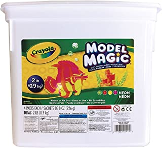 product image for Crayola Model Magic Neon, Modeling Clay Alternative, Slime Ingredient, 2lb